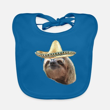 Esilarante Sloth Black Glasses Sombrero Sloths In Clothes - Bavaglino