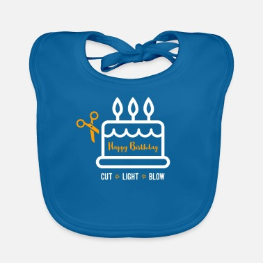 Happy Birthday Happy Birthday Happy Birthday Cake - Baby Organic Bib