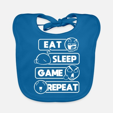 Game Eat Sleep Game Repeat Gamer Gift Computer Game - Baby Bib