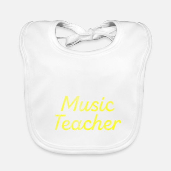 Gift Idea Baby Clothes - Music teacher performance - Baby Bib white