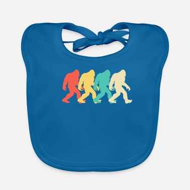 Graphic Art Bigfoot Silhouette Retro Pop Art Sasquatch Graphic - Ekologisk babyhaklapp