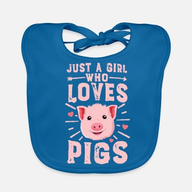 Porca Just A Girl Who Loves Pigs TShirt Women Funny - Bavaglino