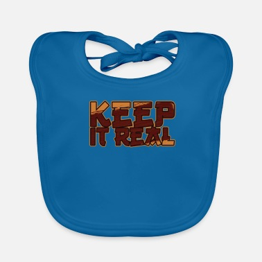 Change Keep It Real / Vintage Be Yourself / Inspirerend citaat - Bio-slabbetje voor baby's