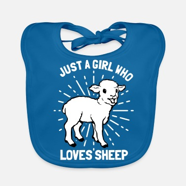 I Love Mama Just A Girl Who Loves Sheep Animal Sheep Gift - Bio-slabbetje voor baby's