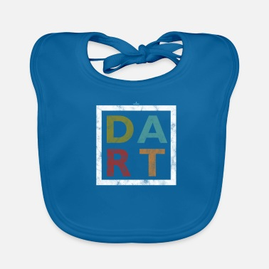 Bar Pub Distressed Dart Typography Bar Pub Tournament - Baby Bib