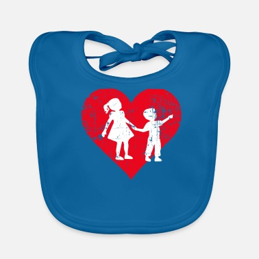 Siblings A Heart For Siblings - Siblings Tee Shirt - Baby Bib