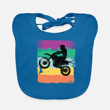 Bike Dirt Biking Motocross Supercross Design - Bavoir bio Bébé