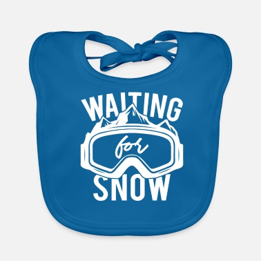 Wait for snow! Gift idea skiing holiday - Baby Bib
