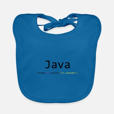 Java Java is awesome - Baby Organic Bib