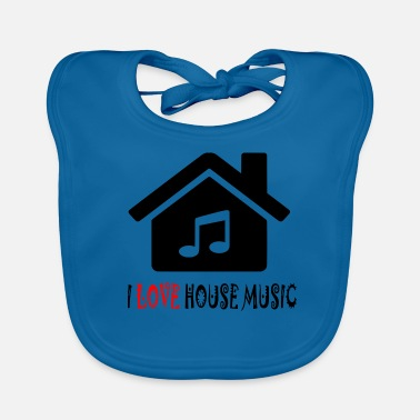 House House Music House Party Shirt - Ekologisk babyhaklapp
