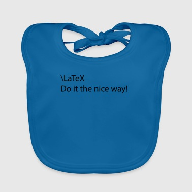 latex - Baby Organic Bib