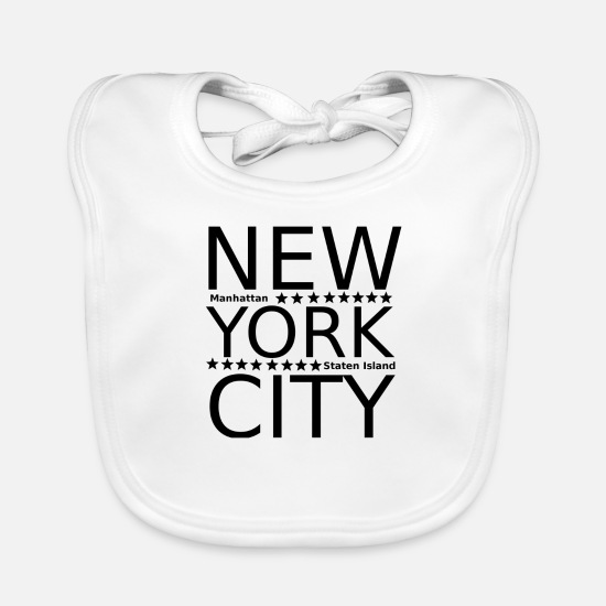 Gift Idea Baby Clothes - nyc - Baby Bib white