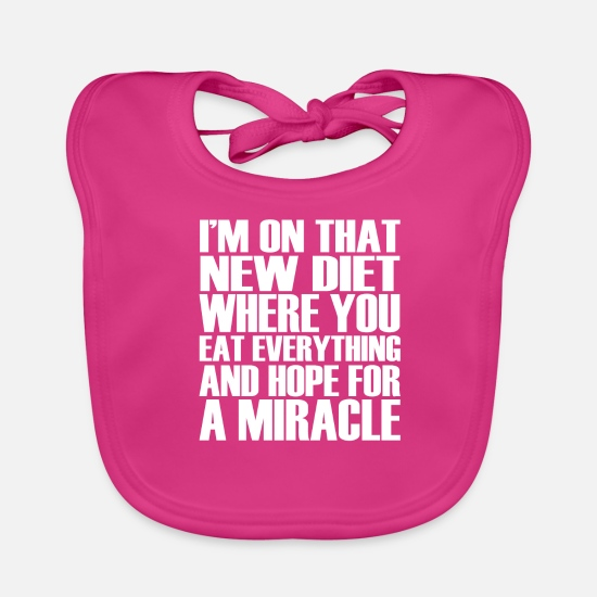 Sayings Baby Clothes - funny funny sayings - Baby Bib fuchsia