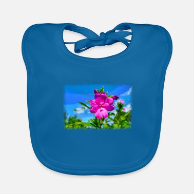 Pixel PIXEL FLOWER as pixel graphic - Baby Bib