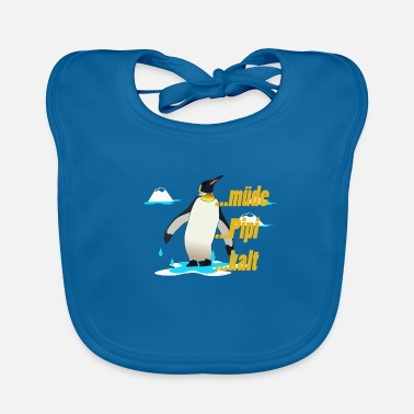 Pipi Penguin ... tired pipi cold - Baby Organic Bib