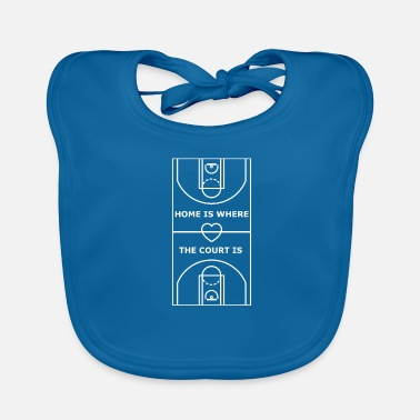 Court Basketball Court Home Is Where The Court Is - Baby Organic Bib
