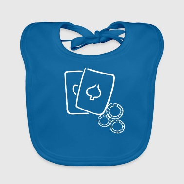 CardsNStash - Poker Cards and Chips - Gift Idea - Baby Organic Bib