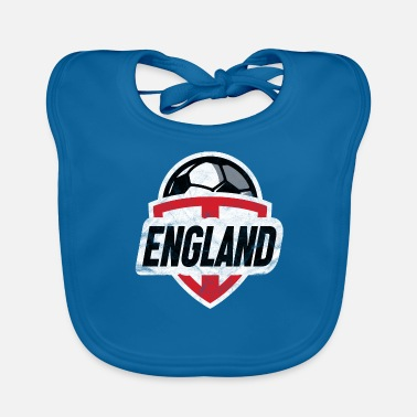 Soccer Fan England T-Shirt Football Soccer Fan Gift - Baby Organic Bib