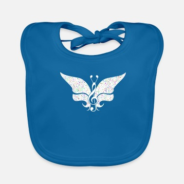 Rock N Roll Music Butterfly Music Festival Gift Party - Baby Organic Bib