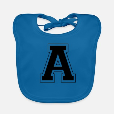 Lettering Letter A - Baby Bib