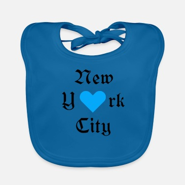 York New York City, New York, York, heart, City, City, USA - Baby Organic Bib
