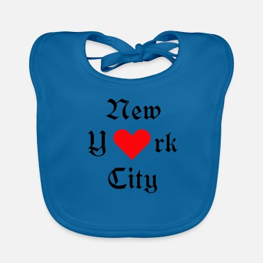 York New York City, York, New York, City, USA, Iloveyou, Heart - Baby Organic Bib