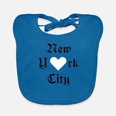 York New York City, York, New York, City, Valentine's Day, ILove - Baby Organic Bib
