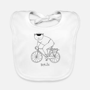 Berliner Bär Auf Dem Fahrrad Zum Ausmalen Baby Langarmshirt