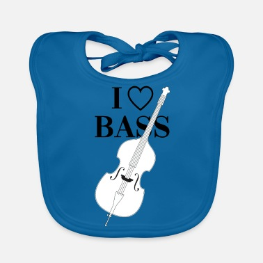 Bass I love upright bass - Baby Organic Bib