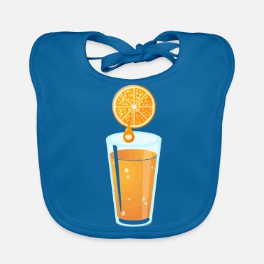 Orange Juice orange juice - Baby Bib