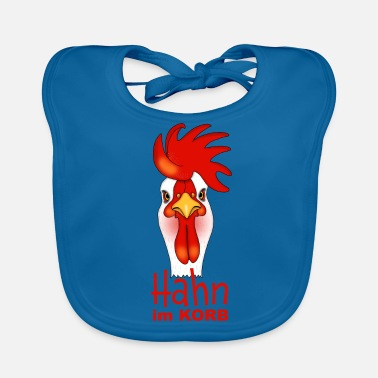 Basket Rooster in the basket - Baby Bib