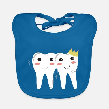 Milk Tooth Happy teeth couple! - Dentist milk tooth tooth - Baby Bib