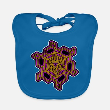 Geometry Mandala - Triangle - Tattoo - Goa Shirt - Gift - Baby Bib