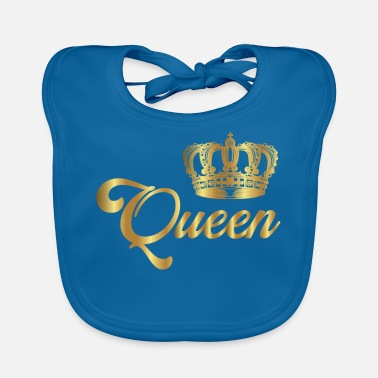 Golden Crown Golden Crown Gold Crowns Lifestyle King Queen - Baby Bib