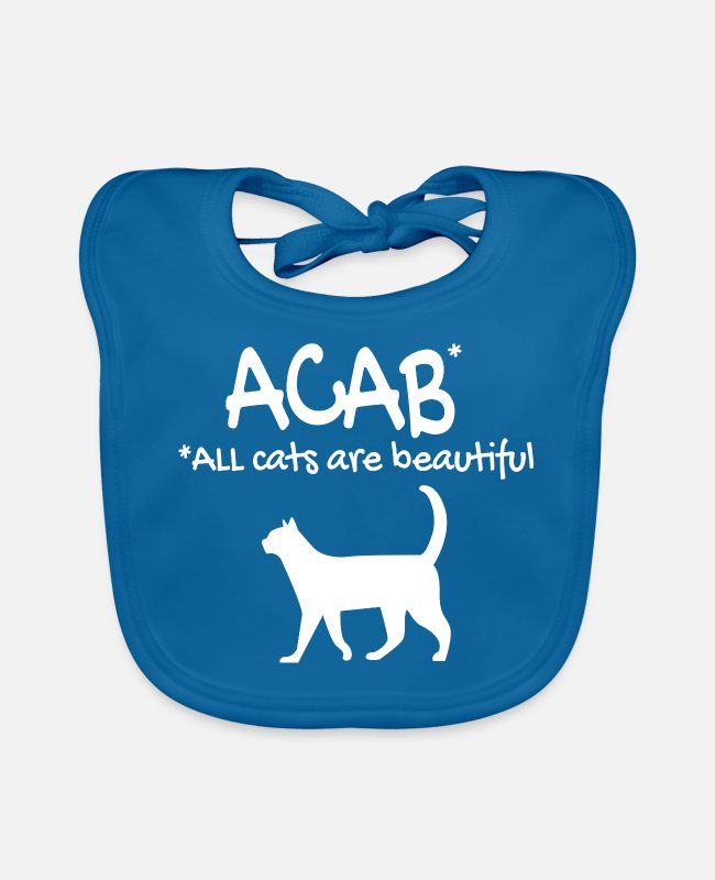 Cat Lady Baby Bibs - ACAB - Baby Bib peacock-blue
