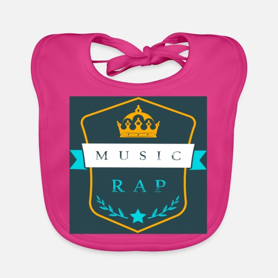 Rap Baby Clothes - rap music - Baby Bib fuchsia