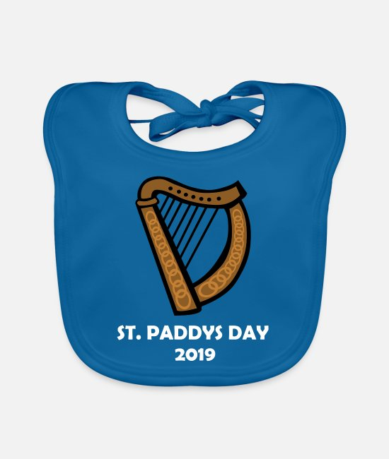Alcohol Baby Clothes - st paddy's day - Baby Bib peacock-blue