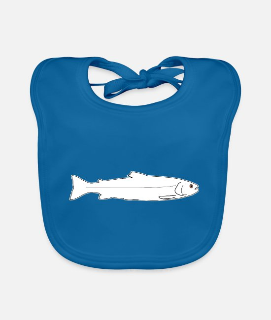 Trout Pond Baby Clothes - Trout rainbow trout brown trout fish fishing - Baby Bib peacock-blue
