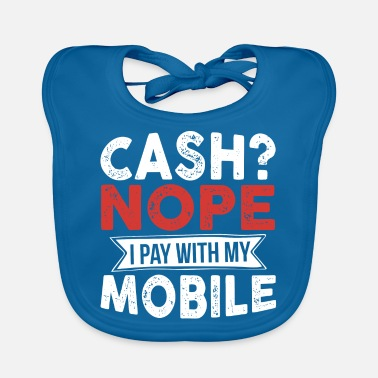Salary Paying with mobile phone - Baby Bib