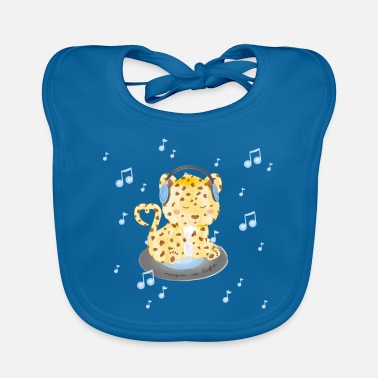 Leopard - music is life - Baby Bib