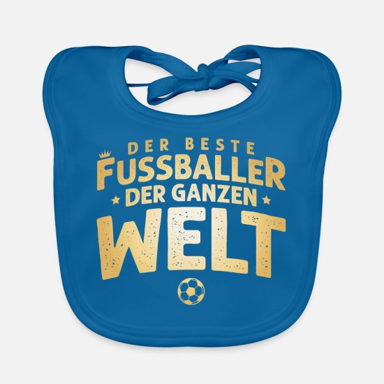 Soccer Baby Clothes - the best footballer - Baby Bib peacock-blue