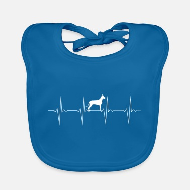 EKG Heartbeat Heartbeat Dog German Mastiff Mastiff - Baby Bib
