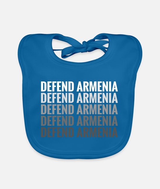 Artsakh Is Armenia Baby Bibs - Defend Armenia - Artsakh Strong - Baby Bib peacock-blue