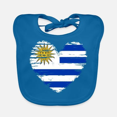 Map Uruguay Heart Flag Flag Coat of Arms - Baby Bib