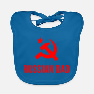Russian russian dad russian father - Baby Bib