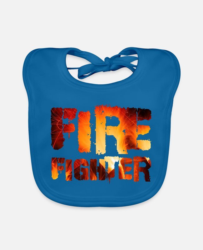 Fire Department Baby Bibs - FIREFIGHTER - Baby Bib peacock-blue