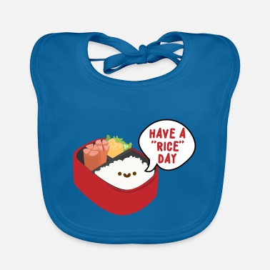 Kawaii Cute Kawaii Rice Pun - Have A Rice Day - Baby Bib