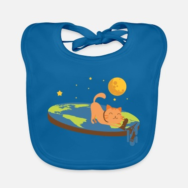 Flat Flat Earth and Funny Cats - Baby Bib