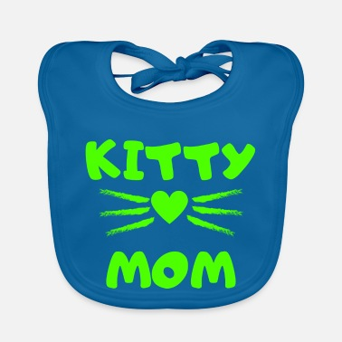 Kitten Schnuckibaby Kitty Mom Heart Kitten Cat Cats - Baby Bib