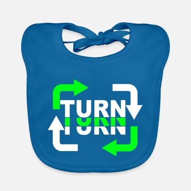 Turn Turn Turn Turn Arrows - Baby Bib